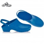 Calzuro Clogs Blue with heel-straps