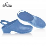 Calzuro Clogs Light Blue with heel-straps