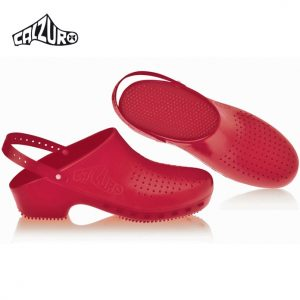 Calzuro Clogs Maroon with heel-straps