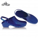Calzuro Clogs Metalic Blue with heel-straps