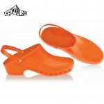 Calzuro Clogs Orange with heel-straps