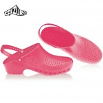 Calzuro Clogs Pink with heel-straps
