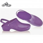 Calzuro Clogs Purple with heel-straps