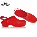 Calzuro Clogs Red with heel-straps