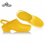 Calzuro Clogs Yellow with heel-straps