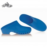 Calzuro Blue Clogs Without Upper Ventilation Holes