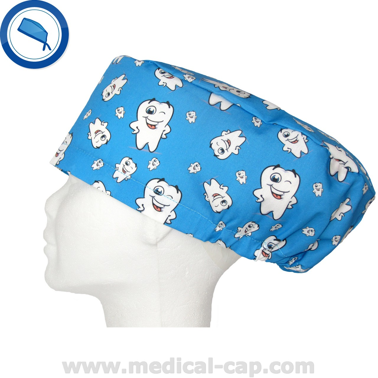 ef3a6c8dc71 Surgical Cap Dentists Blue Happy tooth – Women