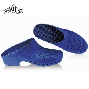 Calzuro Clogs Metalic Blue