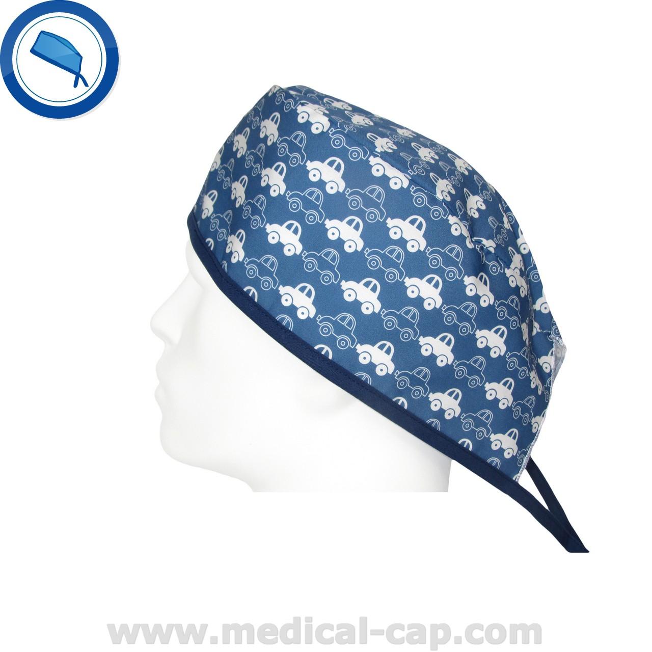 203a1053711 Surgical Cap Blue Funny Cars Pop – Man