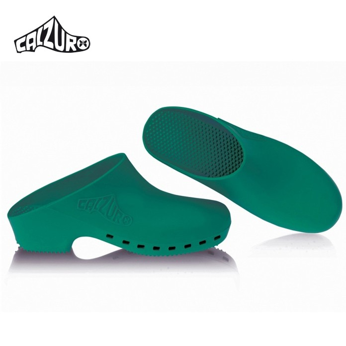 Calzuro Green Clogs Without Upper Ventilation Holes